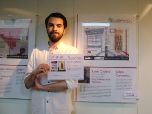 Lewis Copland with his winning design