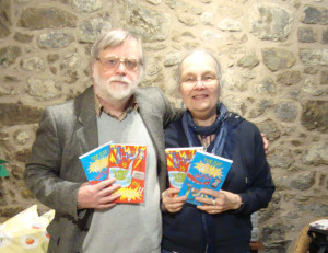 Robert Harris with copies of his books at Far From the Madding Crowd in Linlithgow