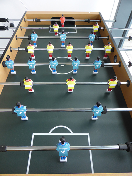 Meet Floris Books F.C, ready for their match against Caleytown on our Scotland Stars Fussball Table.