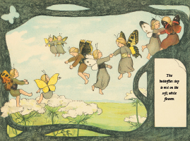 Illustration from The Story of the Butterfly Children by Sibylle von Olfers