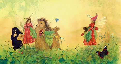 Illustration from Daniela Drescher, Little Fairy's Meadow Party