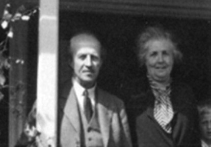 Photograph of Elsa Beskow and Nathaniel Beskow in 1937