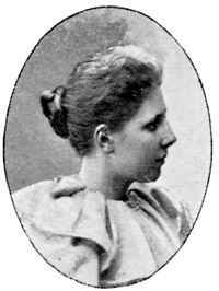 Photograph of Elsa Beskow, author of Swedish children's books, age about 27