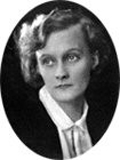 Photograph of Astrid Lindgren, author of Swedish children's books, aged about 17