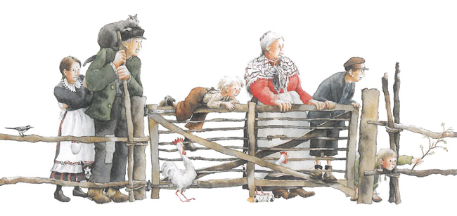 Illustration by Marit Törnqvist from Astrid Lindgren, Goran's Great Escape