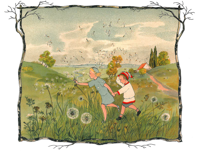Illustration from The Story of the Wind Children by Sibylle von Olfers