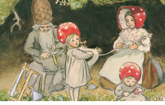 Ilustration from The Children of the Forest by Elsa Beskow