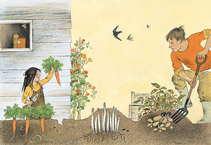 Illustration from How Does My Garden Grow? by Gerda Muller