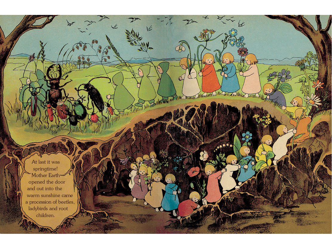 Illustration from The Story of the Root Children by Sibylle von Olfers