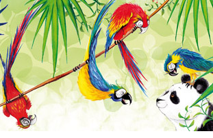 Illustration from The Giant Panda Party by Gill Arbuthnott