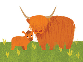 Illustration from My First Scottish Colours by Kate McLelland