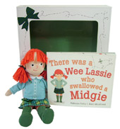 Rebecca Colby; Illustrated by Kate McLelland - There Was a Wee Lassie Who Swallowed a Midgie: Book and Doll Gift Set