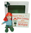There Was a Wee Lassie Who Swallowed a Midgie: Book and Doll Gift Set